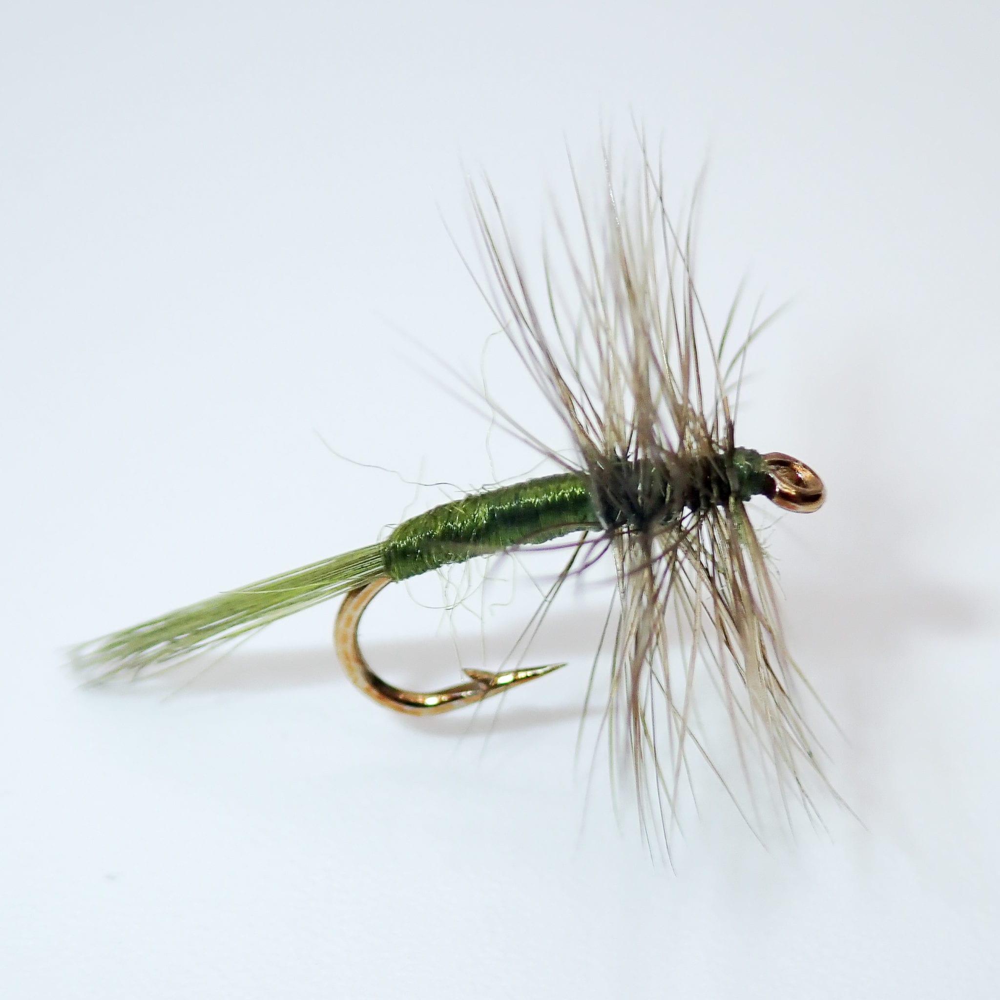 Set of 3 Olive Midge Flies Fly Fishing Size 16